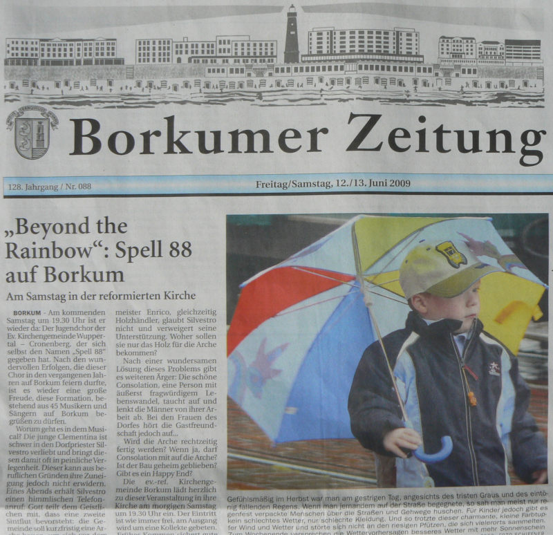 Borkumer Zeitung vom 12.06.2009