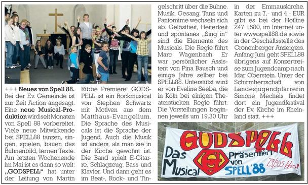 Cronenberger Anzeiger, 26.05.2010
