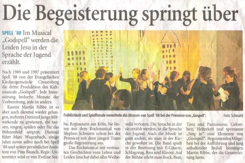 Westdeutsche Zeitung, 03.06.2010